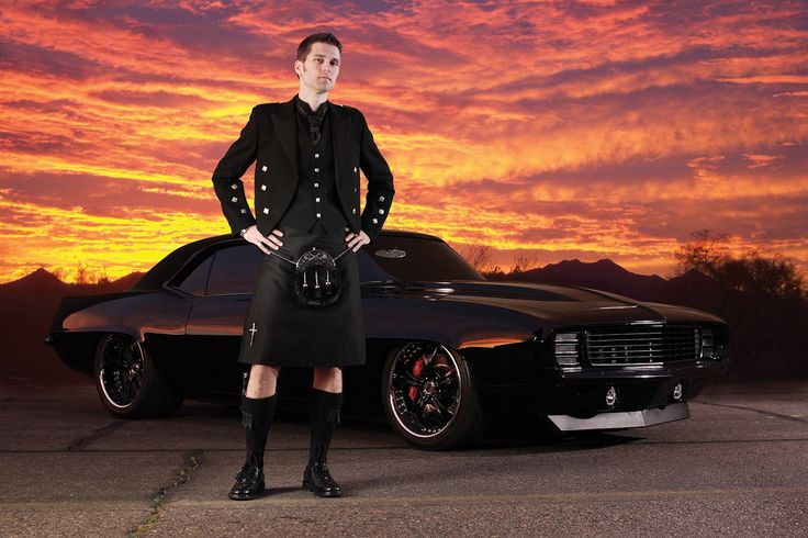 Formal Kilts - Back In Black Package | Kilt Rental USA - Black Shadow
