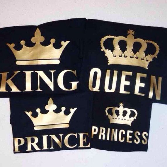 Family Shirts Set King Queen Prince Princess gold by The2dopekids