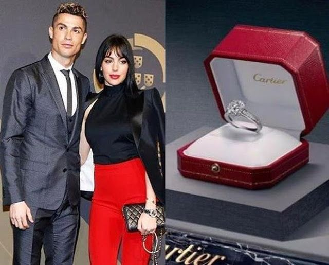 Cristiano Ronaldo Reportedly Engages Girlfriend Georgina Rodriguez With Cartier Diamond Engagement Ring Worth N300million Cristiano Ronaldo Ronaldo Georgina