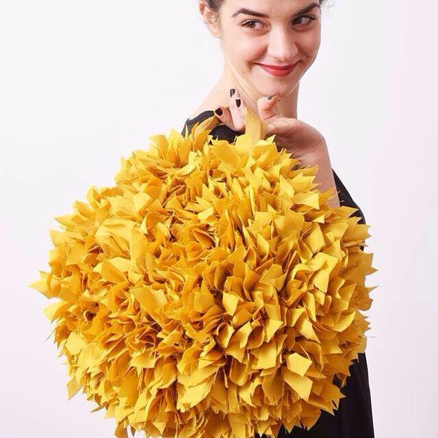 We need Sun !!! Frù Frù bag Yellow mustard by kaliKú design on  https://www.etsy.com/it/shop/kalikudesign    #frufrubags #yellowmustard #yellowbag #etsyhandmade #etsyshop #ss2016collection #kalikudesign #yellowaccessories #