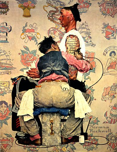 The tattooist norman rockwell ah men pinterest for Norman rockwell tattoo
