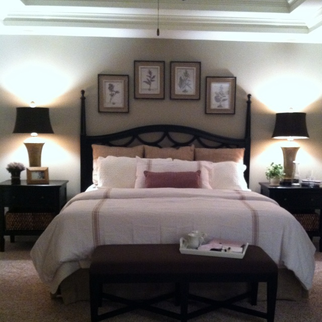 Model town home we designed in Mt Juliet, TN. Master bedroom; neutral with.  Pictures Over BedBedroom NeutralSoothing ...