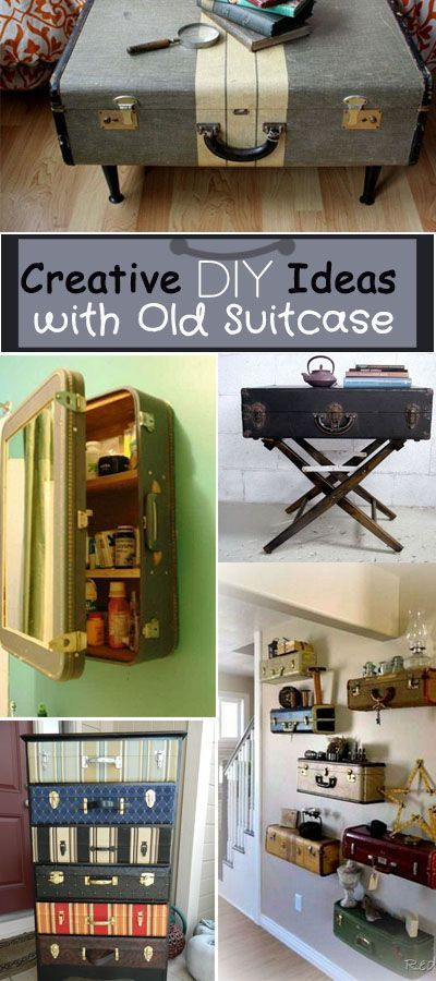 Creative DIY Ideas with Old Suitcase • Great ideas and tutorials to re-purpose your vintage suitcases for all sorts of functional uses!