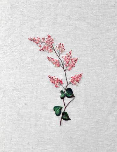 Tiny flowers embroidery