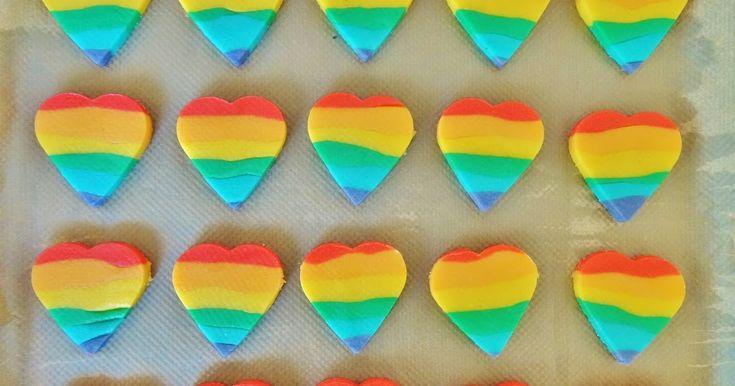 Regenboog hartkoekjes