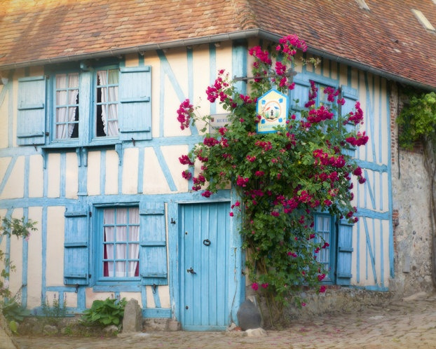 317 best french blue shutters provence images on pinterest for French country cottages