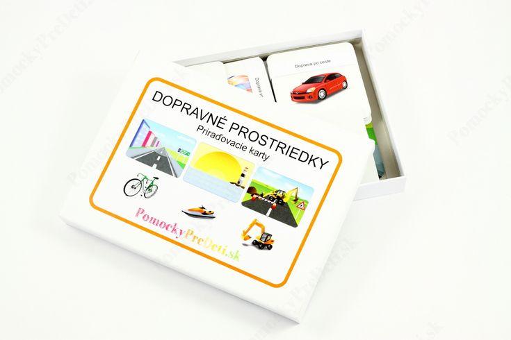 Dopravné prostriedky, priraďovacie karty #ucebnepomocky #didaktickehracky #homeschooling #domacevzdelavanie #pomockypredeti #teachingaids #montessori #vehiclecards