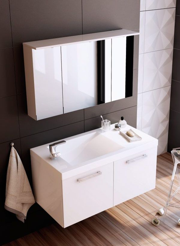 Baderomsinnredning 90 cm jana med speilskap: http://handlebad.no ...