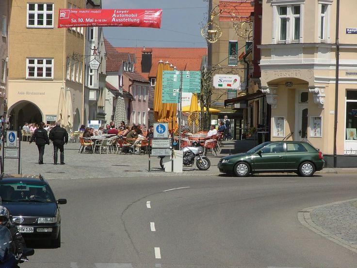Eingang zur Fussgängerzone in Isny im Allgäu