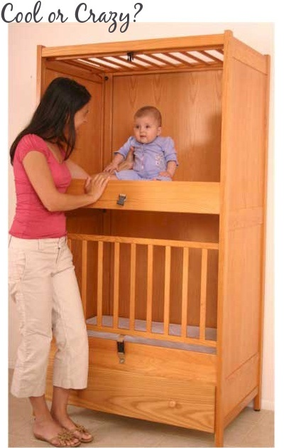 Cool or Creepy? Cribs for twins with a small room.....