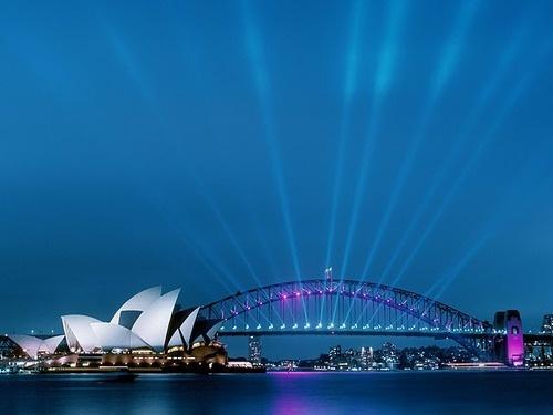 Sydney, Australia at night time
