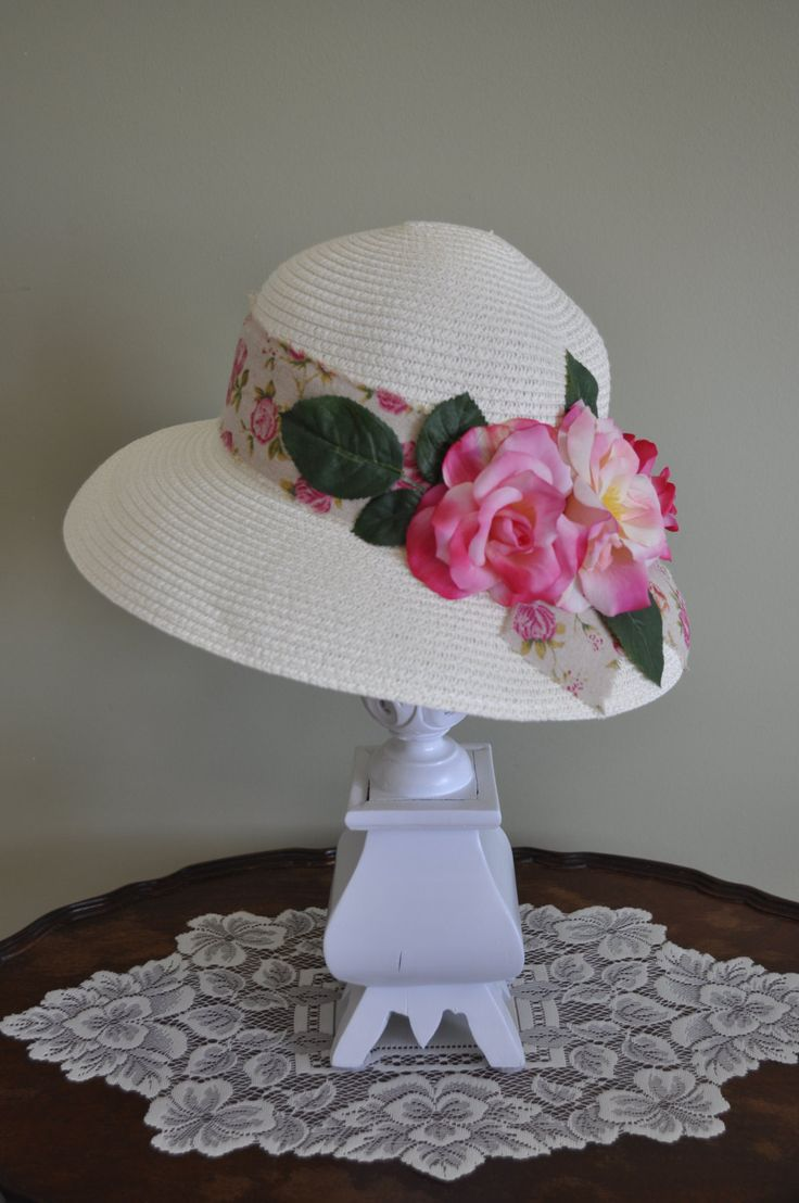 Pink Country Rose High Tea Hat Afternoon Tea Bridal Hair Wedding Accessory Shower Kentucky Derby Photography Prop #kentuckyderbyhat #kentuckyderby #derbyhat