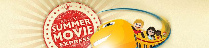 Regal Summer Movie Express 2013 - $1 morning movies!