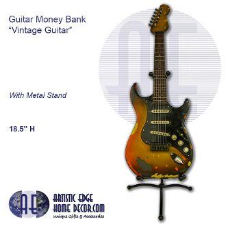 Guitar Money Bank - Vintage