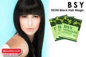 Rambut Kembali Hitam Berkilau & Mempesona Dengan BSY Noni Hair Magic Hanya Rp.139,000/box  - www.evoucher.co.id #Promo #Diskon #Jual  Klik > http://www.evoucher.co.id/deal/Rambut-hitam-dengan-BSY-Noni-Hair-Magic  Rambut Berkilau Penuh Pesona dengan Shampoo Noni BSY. Terbuat dari bahan alami sehingga aman digunakan. Yuk Pakai dan kembalikan rambut hitam alami indah mempesona  Note: sudah mendapat sertifikat halal international.  pengiriman mulai 2013-12-02