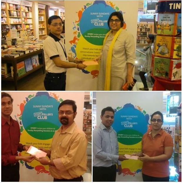 Our Winners!  Share a STORY lucky draw winners have been announced.  1st - Vaandana Dhoop 2nd - Sayan Sen 3rd - Kirti Jhunjhunwala  Congratulations! And we thank all our patrons who have contributed to our book donation drive, once again!