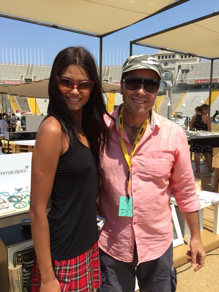 Daniela Braga, top model de Victoria Secret visita nuestro stand en la #080BcnFashion