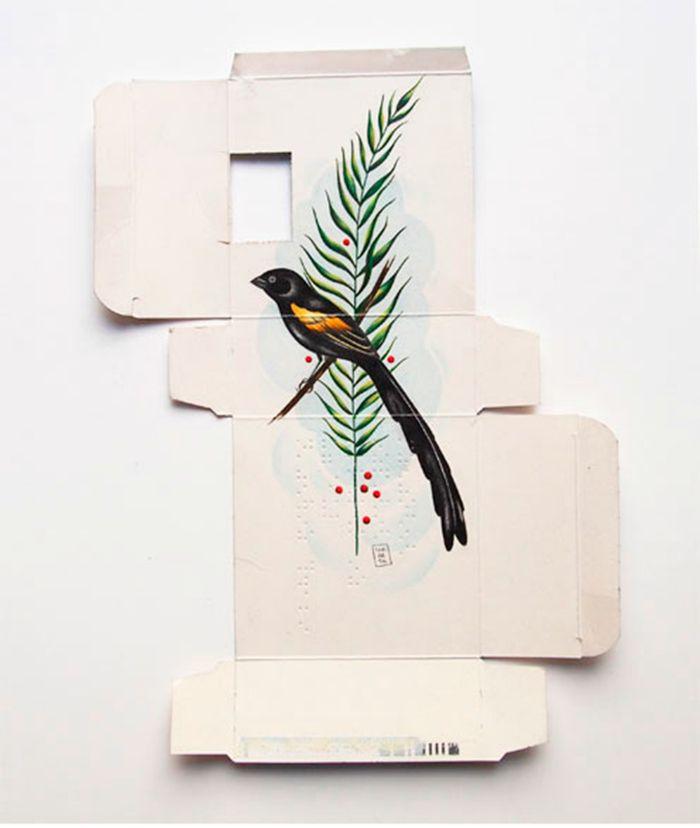 Sara Landeta arte en medicamentos