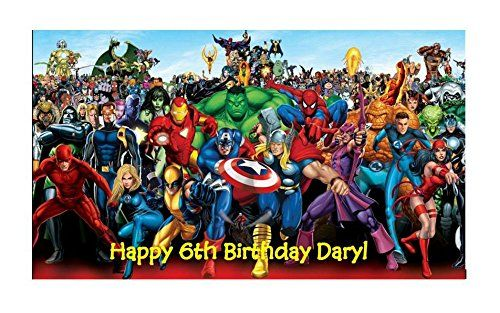 marvel superheroes edible Image birthday cake topper * Be sure to check out this awesome product.