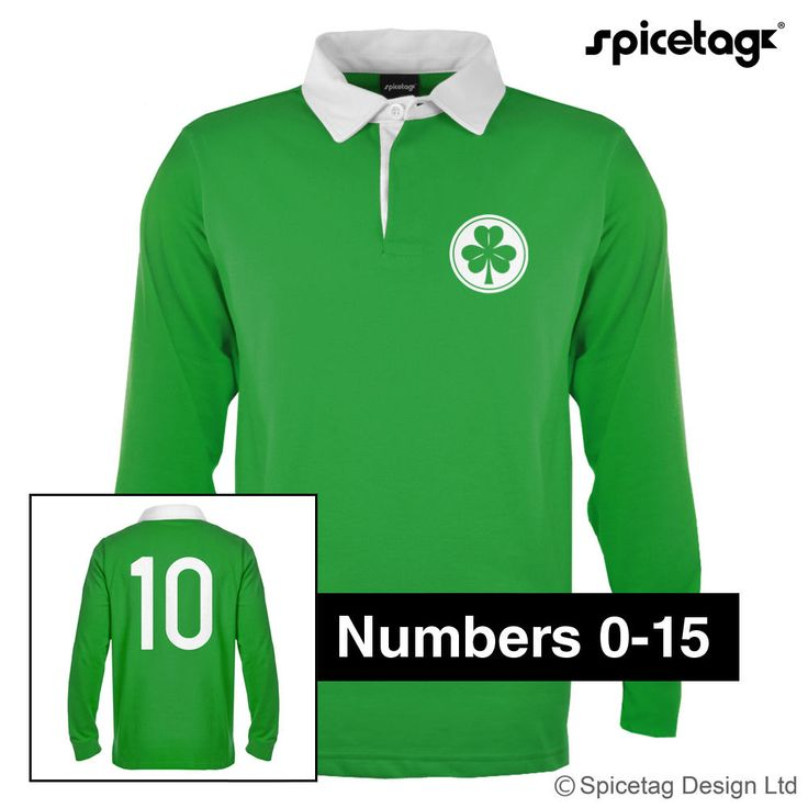 Retro 70S Clover Ireland Rugby Jersey Irish Green Shirt Numbers Vintage Sweater
