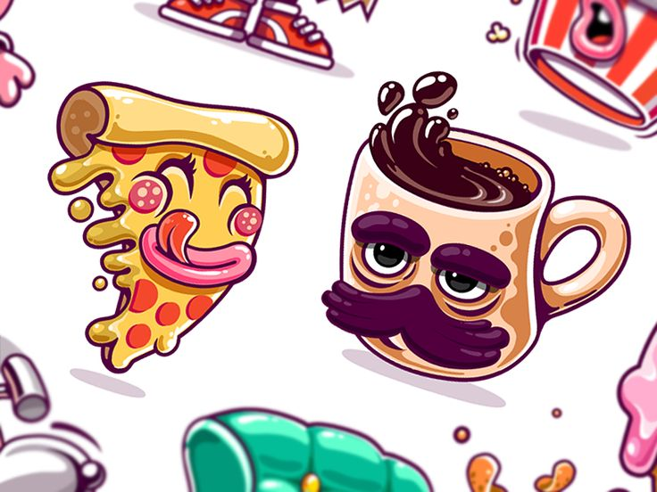 Kik Messenger Stickers by Andru Gavrish #Design Popular #Dribbble #shots
