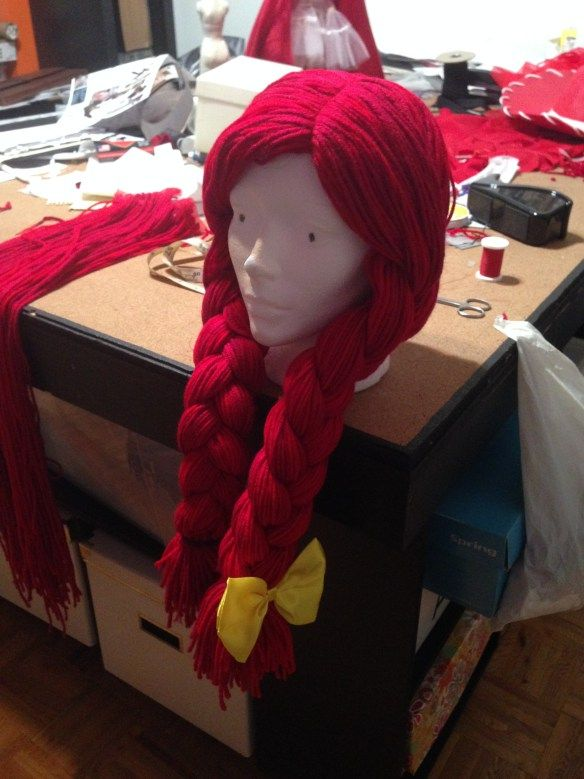 How to make a wool yarn wig! Great for a Rag Doll Costume, Toy Story Jessie costume or Sally from a nightmare before christmas halloween costume!