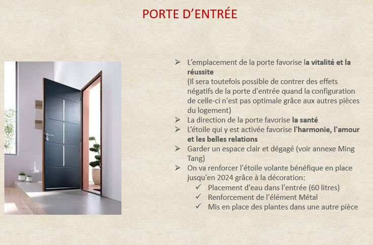 analyse porte entree feng shui