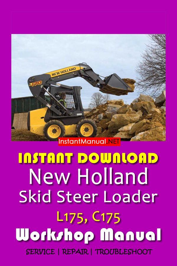download new holland l175 c175 skid steer loader workshop