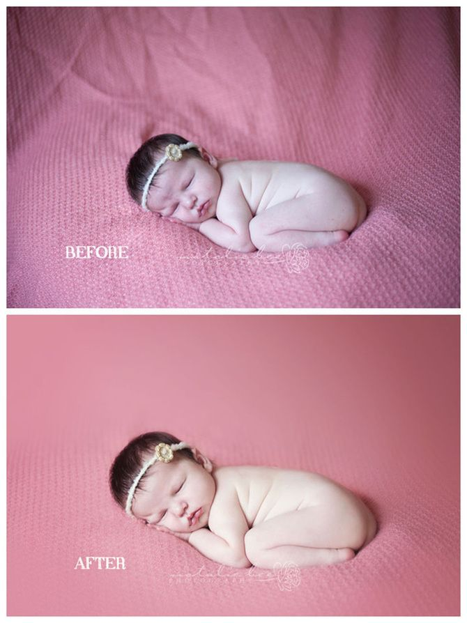 Before & After Newborn edit - Natalie Bee Photography