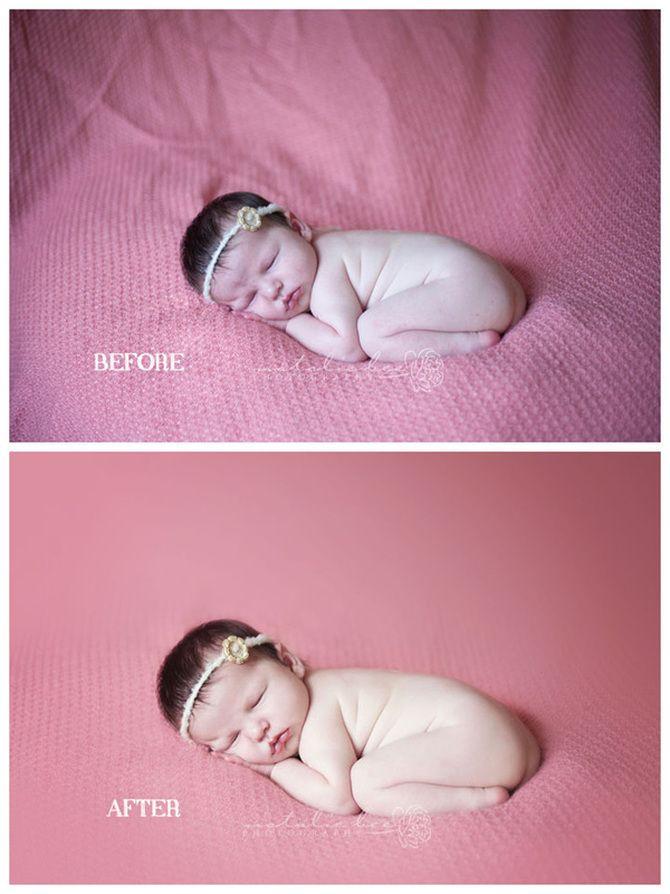 Before & After Newborn Session Edit - Spokane Newborn Photographer - Natalie Bee Photography