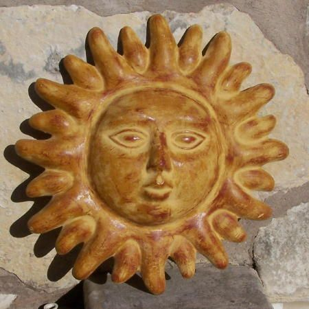 Mexican Clay Pottery Sun Mask by Arpero