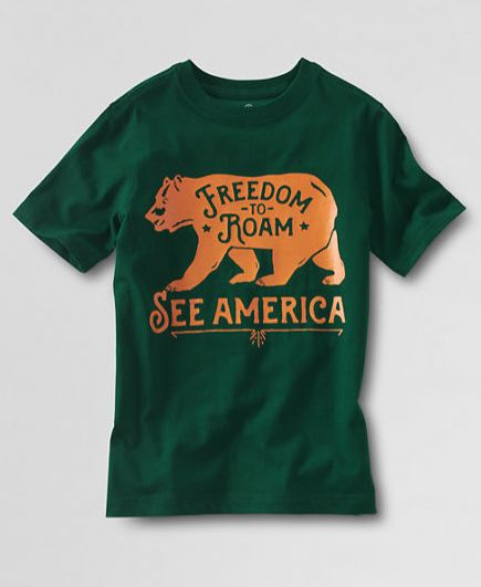 See America Lands' End Boy's Graphic T-Shirt | Frank Ozmun Graphic Design
