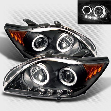2005-2007 Scion TC Twin Halo LED Projector Headlights Black Head Lights Set Lamp Pair Left+Right 2006 - Walmart.com