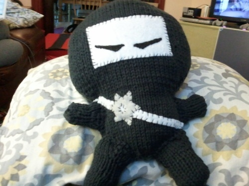 For the ninjas in my life. I would love to crochet this but would so mess it up. :P