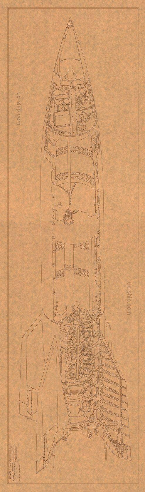 V-2 (A-4) rocket cutaway