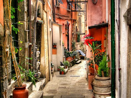 Alley in Vernazza (Cinque Terre - Italy) by fede0253, via Flickr