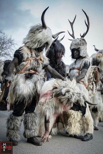 Is Arestes - Sorgono. Sardinian carnival very wild.