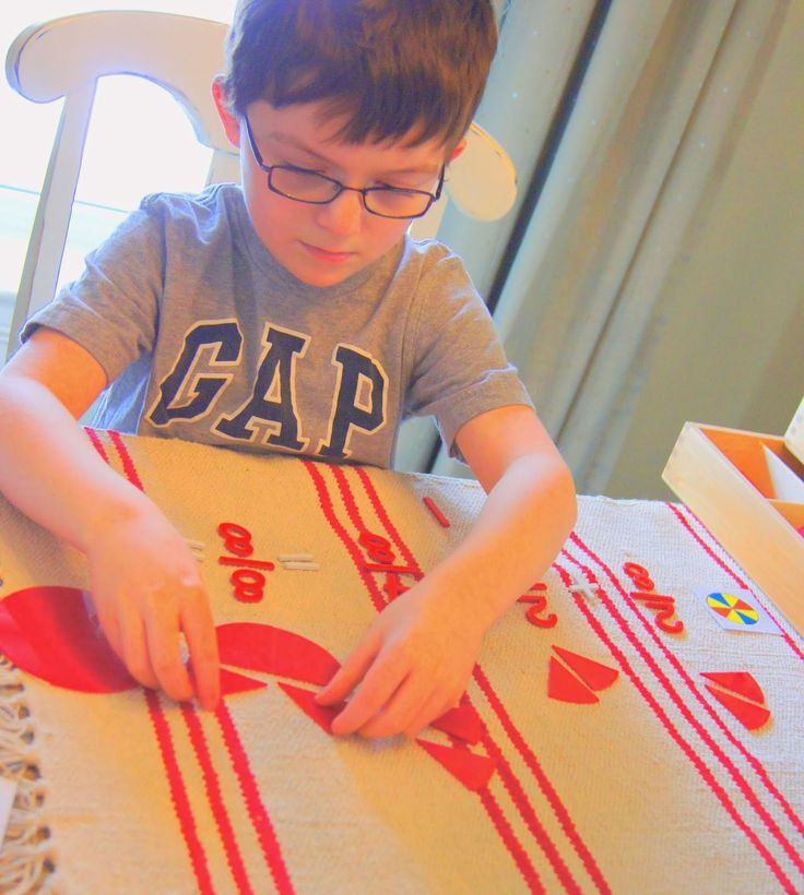 """NEW Fraction Printables at """"Making Montessori Ours"""": Montessori Fractions."""