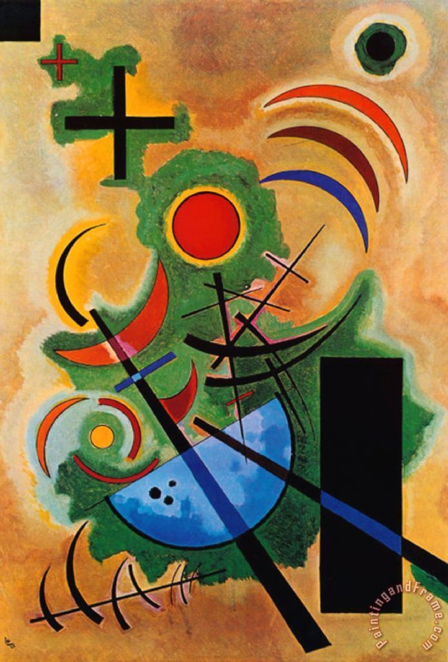 Wassily Kandinsky Solid Green