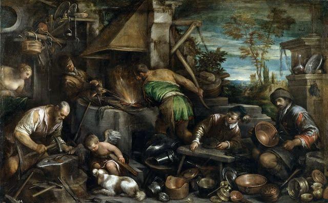 Το σιδηρουργείο του Ήφαιστου (1585) Μουσείο ντελ Πράδο στη Μαδρίτη