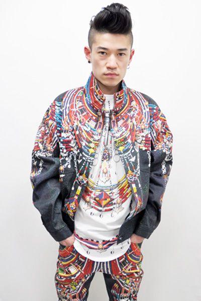 African bead print jacket by KTZ.