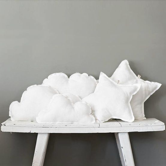 clouds and stars - easy to make for angel party