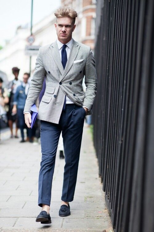 Gentleman Style Men 39 S Fashion Menswear Men 39 S Outfit For Spring Summer Light Gray Double
