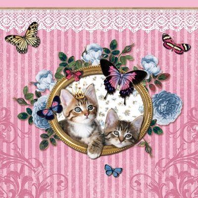 3189 Servilleta decorada animales