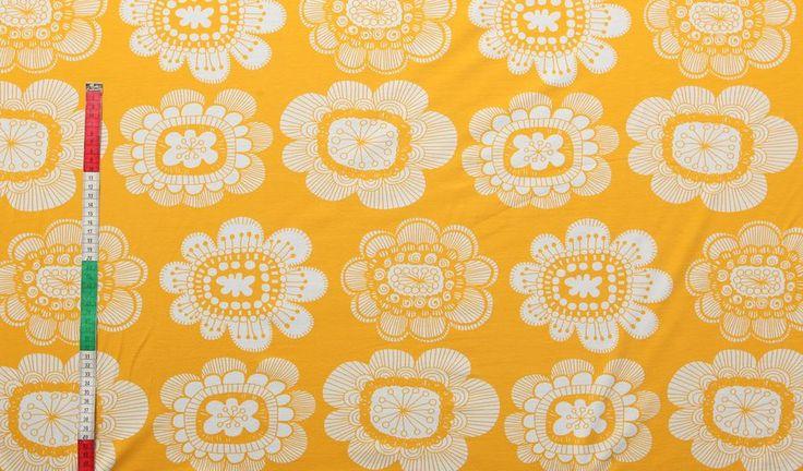 Paratiisin puutarha (keltainen trikoo) | Verson Puoti