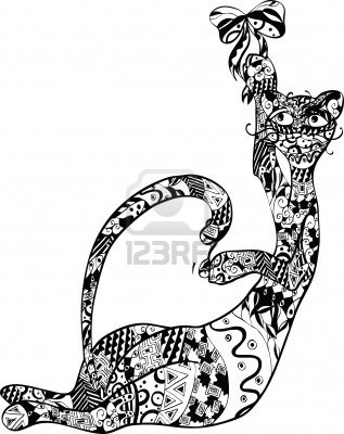 117 best Zentangle Cats & Dogs images on Pinterest