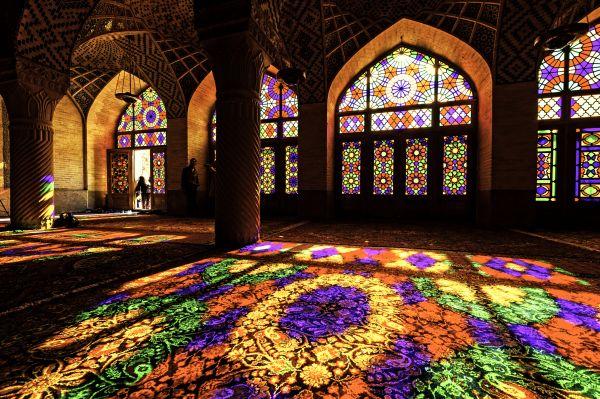 . Mešita Násir al-Mulk, Šíráz (Írán, ...