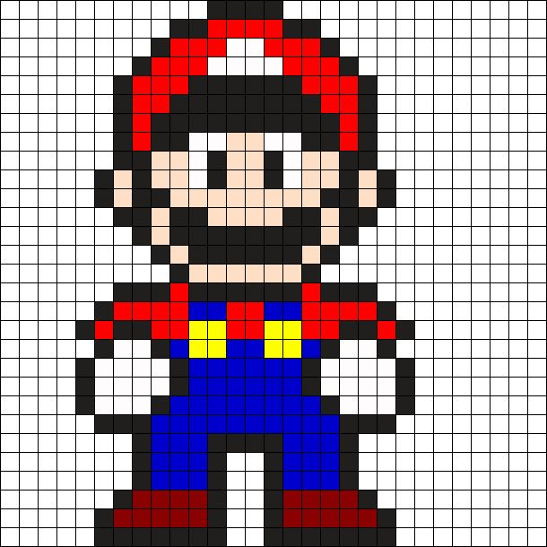 Mario by Tashar_h on Kandi Patterns