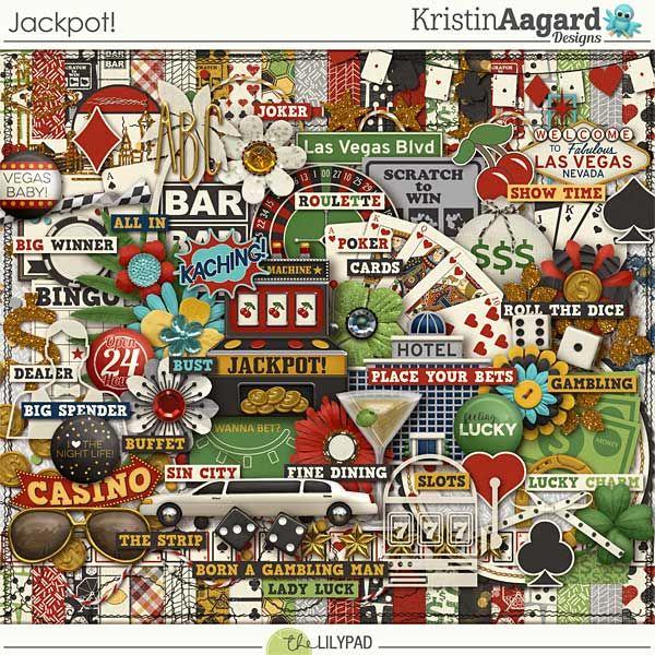Jackpot! - Digital Scrapbooking Kit by Kristin Aagard Designs