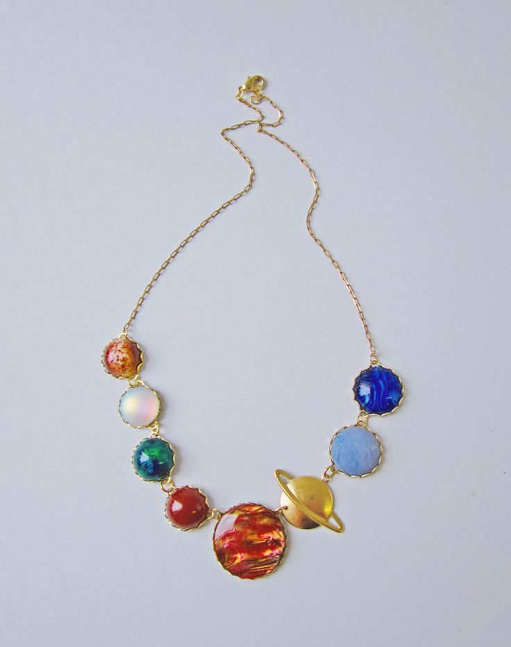 Perfect Alignment Solar System Necklace — Eclectic Eccentricity Vintage Jewellery